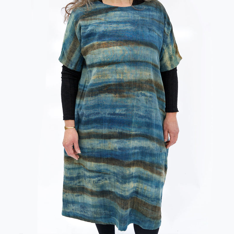 Naturally Dyed Indigo Tunic Dress