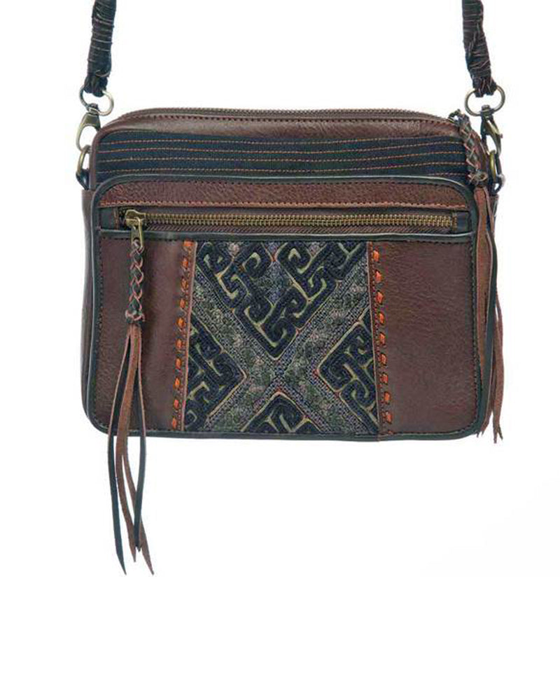 Designer Hmong Leather Shoulder Bag