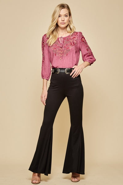 Keep The Groove Flare Pants - Black