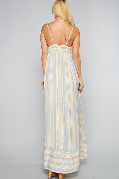 Heaven On Earth Maxi Dress - Blue Stripe