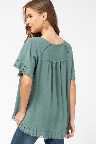 Welcome Back Spring Top - Sea Green
