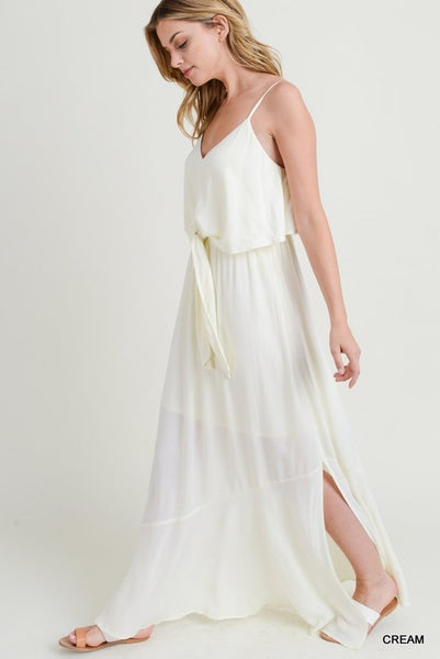 Look At You Shine Maxi Dress - Ivory