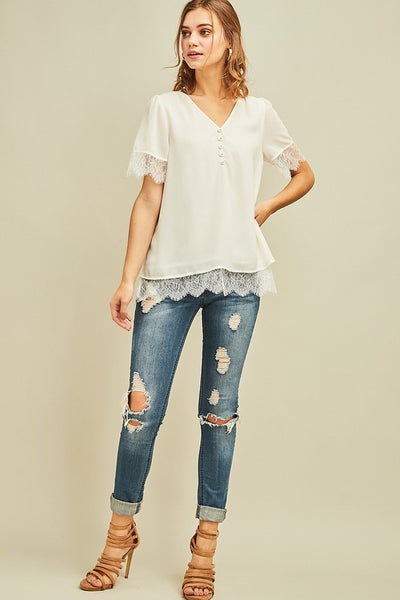 All My Love Top - Ivory