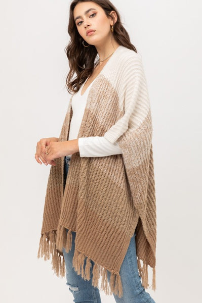 Uptown Girl Striped Cardigan - Khaki