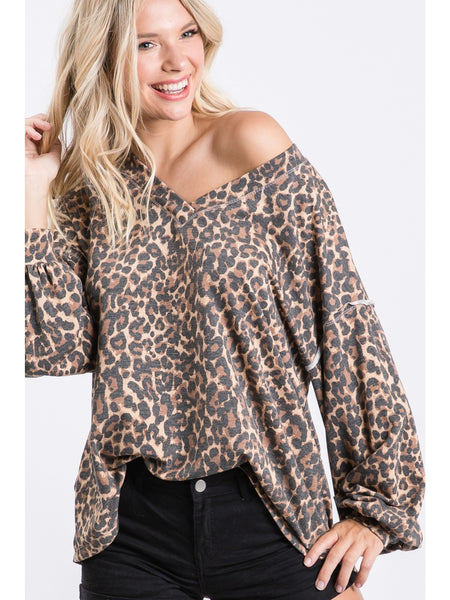 Just One Love Leopard Top
