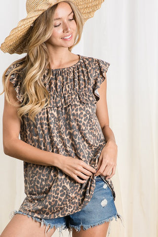 Forever Flirty Leopard Top