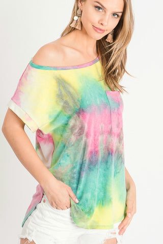 Look This Way Tie Dye Top