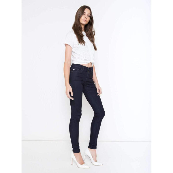 THROUGH IT ALL KANCAN SKINNY STRETCH JEAN - DARK WASH