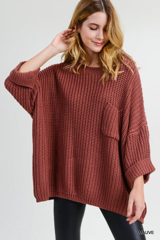 By Surprise Sweater - Mauve