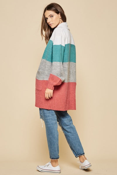 Feel The Chill Colorblock Cardigan