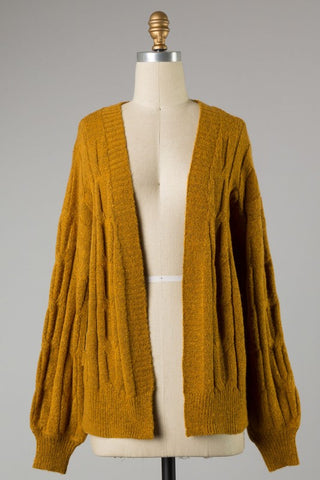 Cozy Up Cardigan - Mustard