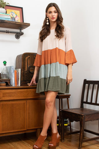 Worth The Chase Colorblock Dress