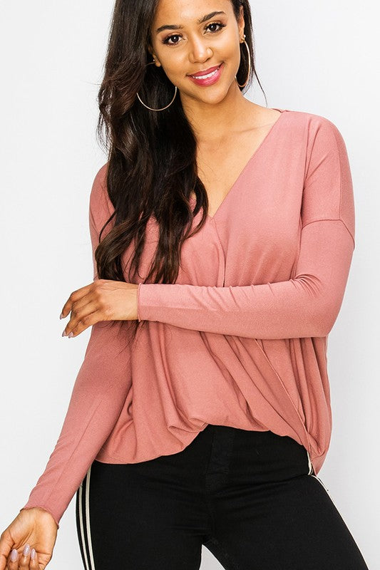 Like a Dream Long Sleeve Top - Mauve