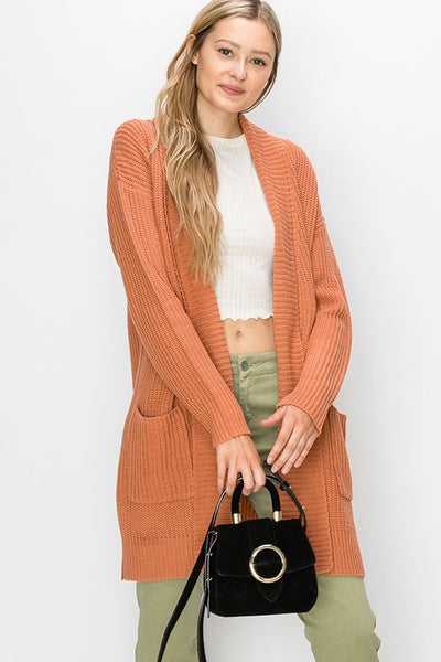 Just Go With It Cardigan - Pumpkin
