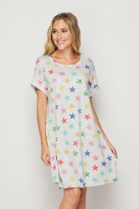 Make Your Life Easy Dress - Stars