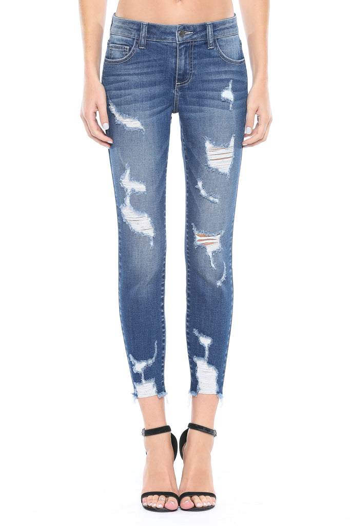 Dillon Distressed Cropped Skinny