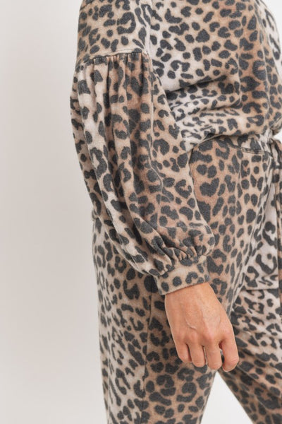 Early Riser Leopard Jogger Set