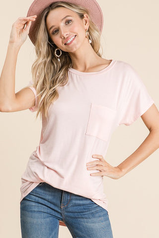 Such a Go To Pocket Tee - Blush