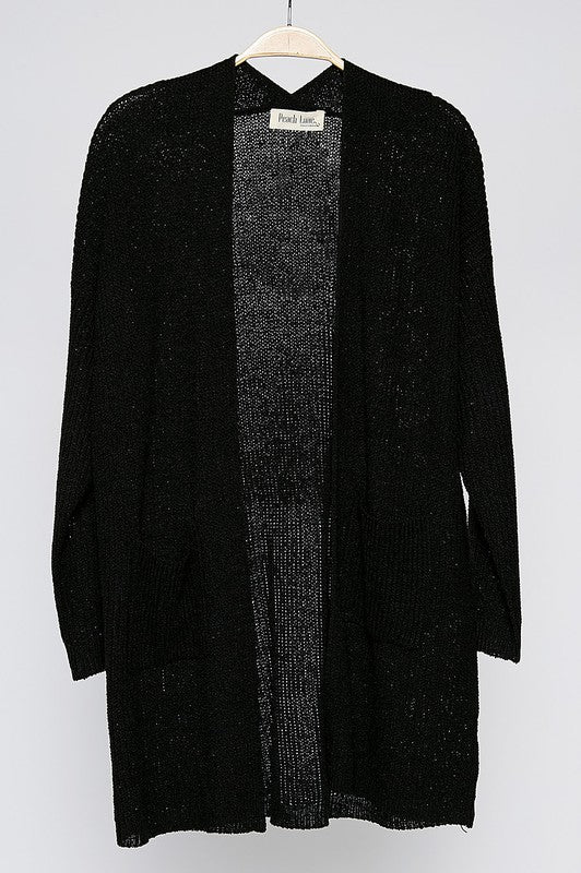 Go Ahead Now Cardigan - Black