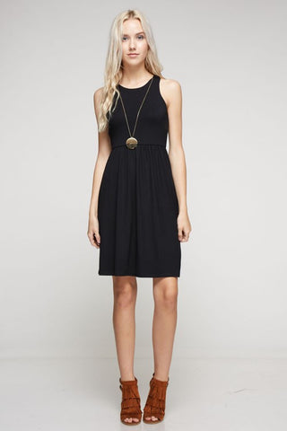 Smooth Sailing Racerback Dress Black