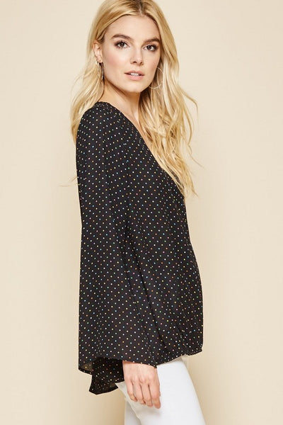 Smitten For You Polka Dot Top