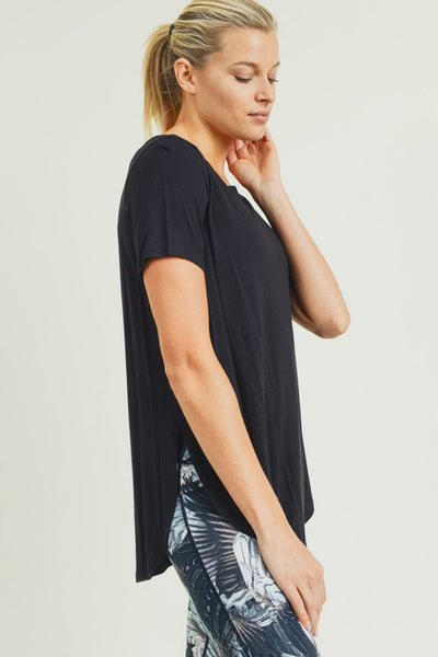 Kara Short Sleeve Top - Gray