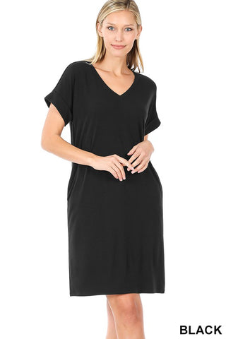 Easy Does It Shirt Dress - Black