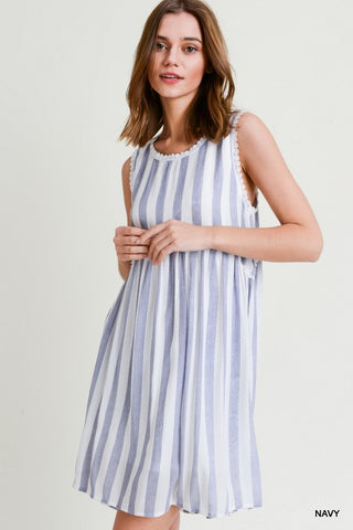 Dreamy Escape Dress - Blue Stripe