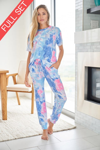 Playful Spirit Tie Dye Set - Blue
