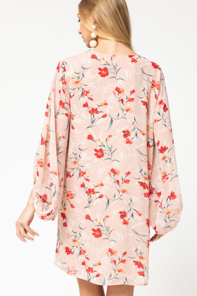Lovely Thoughts Floral Dress - Blush