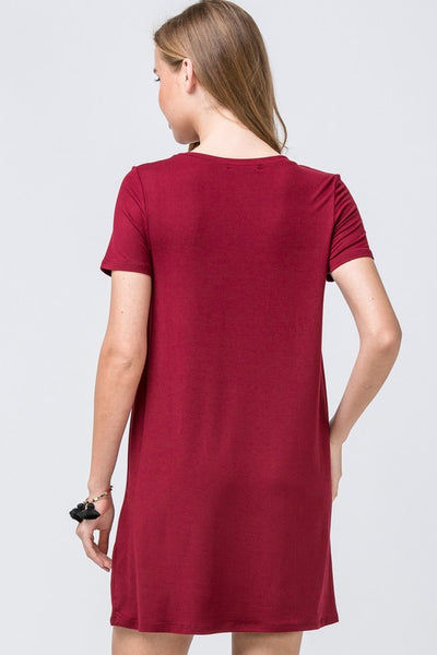 Love You For Life Dress - Burgundy