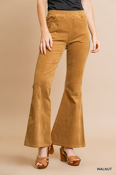 Stand With Me Corduroy Flare Pant - Camel