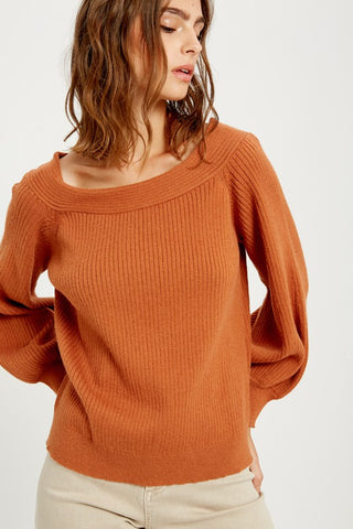 Change Is Good Off The Shoulder Sweater - Caramel