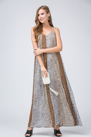 All Eyes On You Cheetah Print Maxi Dress