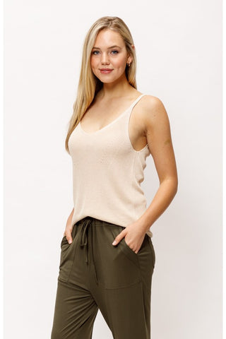Neutral Territory Sweater Tank - Cream