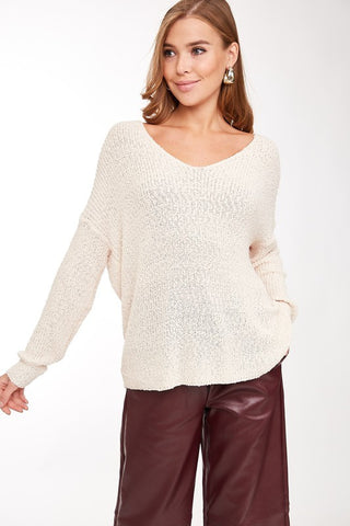 Bring On The Lattes Sweater - Cream