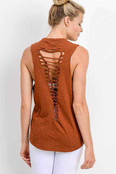 All I Need Workout Top - Rust
