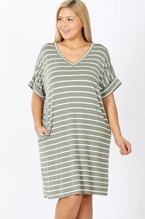 Heavenly Striped T-Shirt Dress