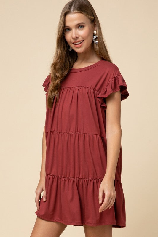 All The Ruffles Dress - Deep Blush