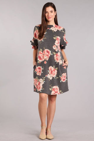 Falling For You Floral Dress