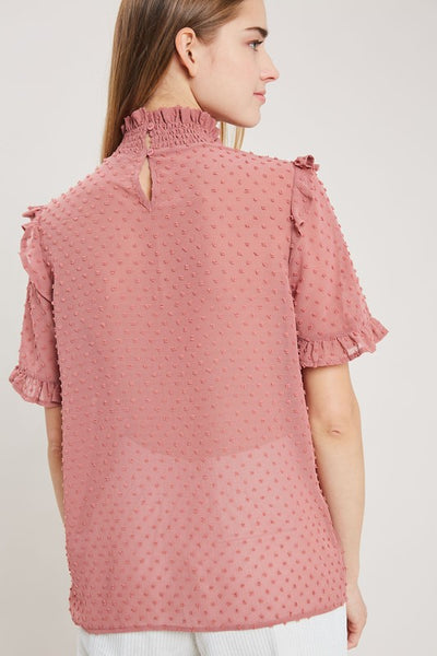 Ruffles and Spice Blouse - Mauve