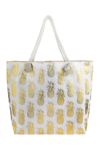 Pineapple Beach Bag - Gold