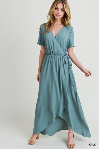 Do Everything With Love Maxi Dress - Sea Green