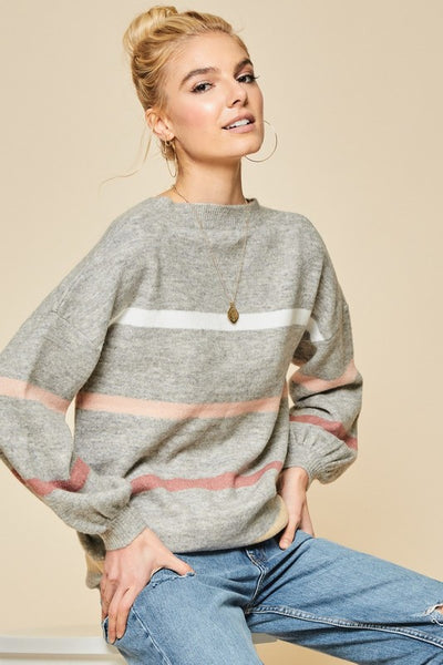 Find Your Way Striped Sweater
