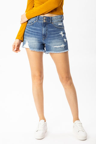 Morgan High Rise Denim Shorts