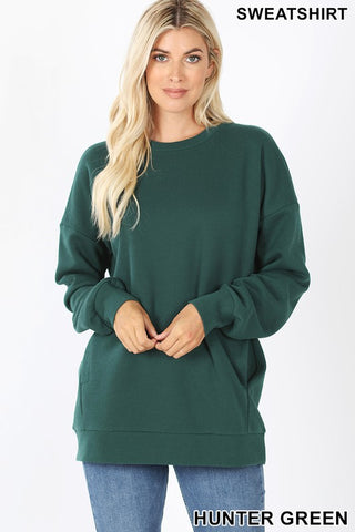Relax and Reset Sweatshirt - Hunter Green