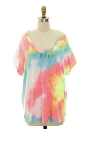 Easy To See Tie Dye Top