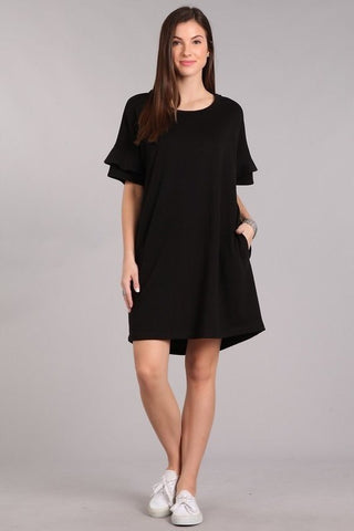 Falling For You Dress -Black