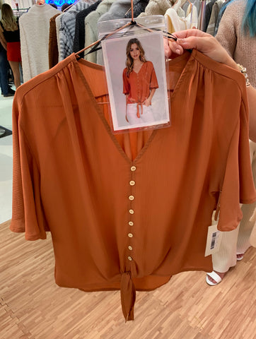Sweeter Than You Blouse - Burnt Orange