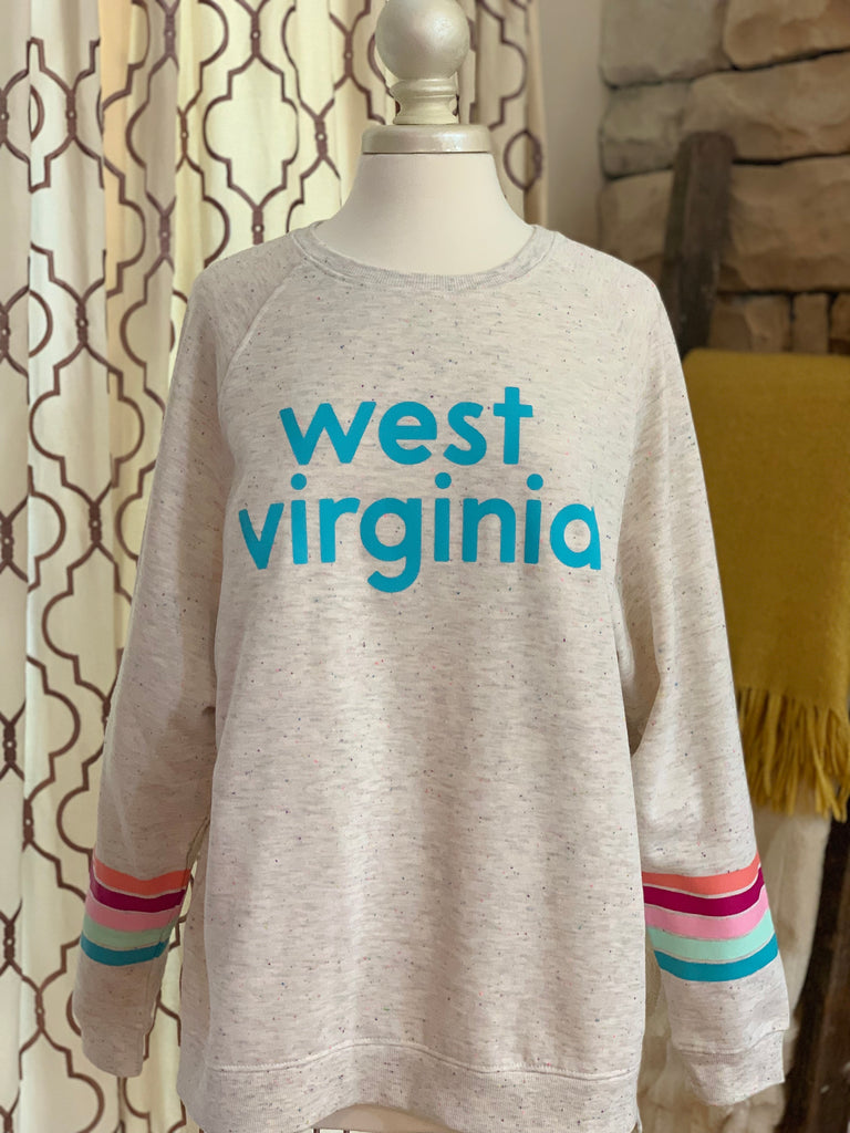 West Virginia Funfetti Sweatshirt